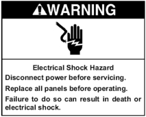 WARNING - Electrical Shock Hazard